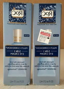 2 Pack RoC Multi Correxion 5 in 1 Anti Aging Eye Cream 0.5 o