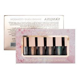 6 Colors/box Shimmer Liquid Eyeshadow <font><b>Set</b></font