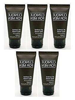 Lot OF 5X CLINIQUE for men Men Oil Control Face Wash 1.7oz e