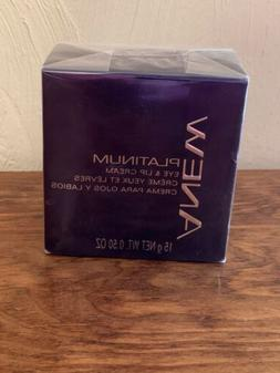 AVON Anew PLATINUM Eye & Lip Cream 0.50 oz. / 15 G NEW and F