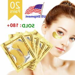 40pc Gold Crystal Collagen Eye Mask Patch Pad Wrinkle Anti A