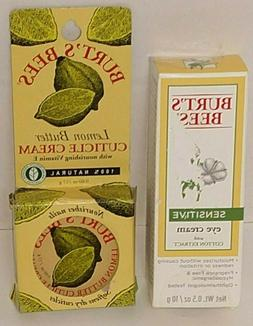 Burt's Bees Sensitive Eye Cream NEW + Cuticle Cream NEW