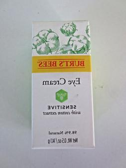 BURT'S BEES Sensitive Eye Cream w / Cotton Extract 0.5 Oz.Se
