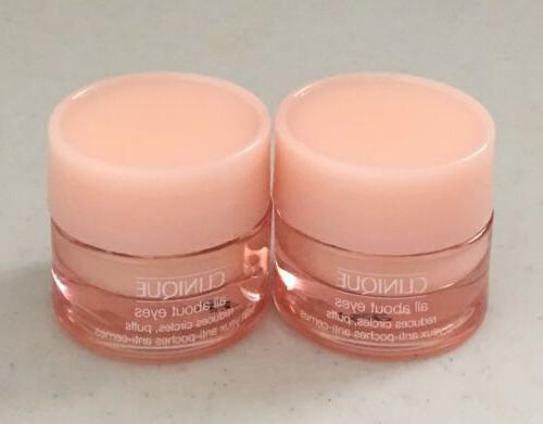 Lot 2 X Clinique All About Eyes reduces circles, puffs Eye C