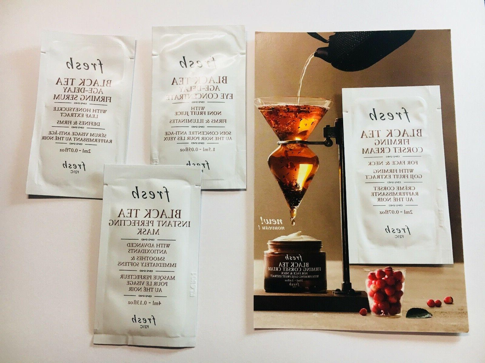 Set of 4 Fresh Black Tea Samples Eye Concentrate + Firming S
