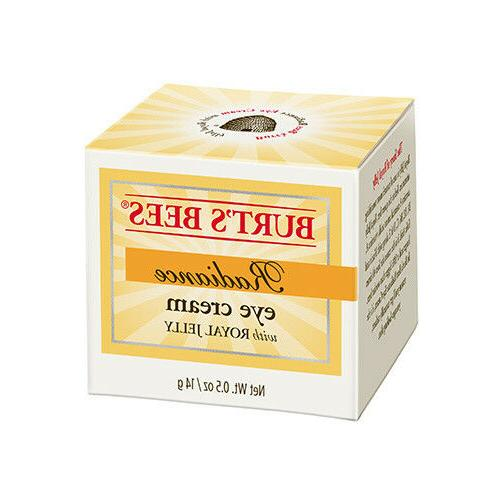 BURT'S BEES ~ Radiance Eye Cream ~ With ROYAL JELLY 98.2% NA