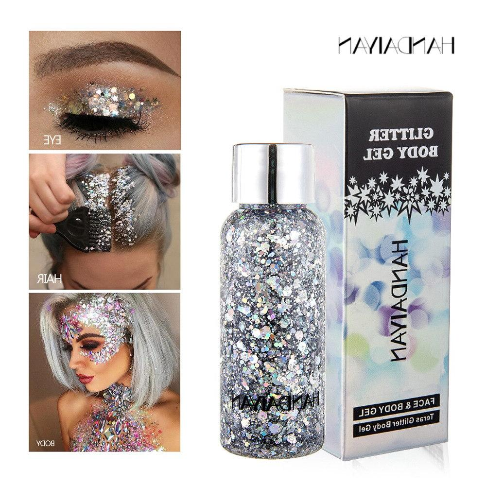 New Glitter Hair Gel Heart Glitter