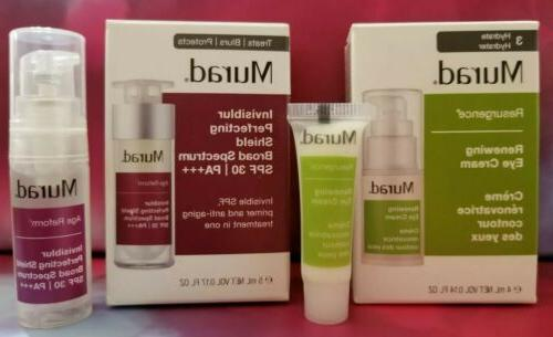 renewing eye cream and invisiblur perfecting shield