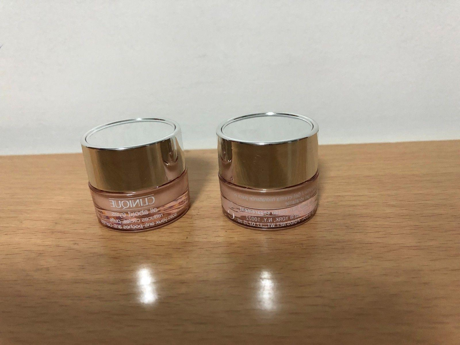 x2 Clinique All About Eyes Reduces Puffs Circle Cream 0.17oz