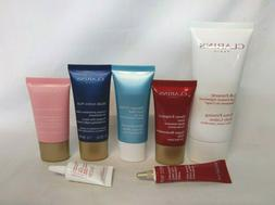 Clarins Lot of 7 Body Lotion, Cleanser, Cream, Mask & Eye Cr
