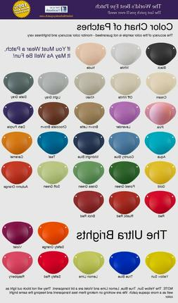 World's Best Eye Patch LASTS FOR YEARS  35 colors, 3 sizes